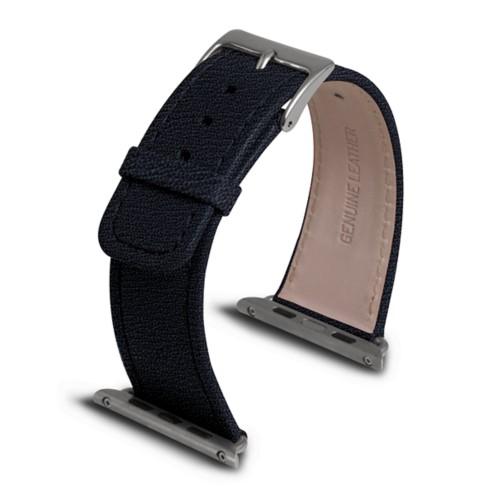 Apple Watch armband 42 mm - Königsblau  - Ziegenleder