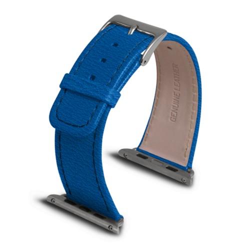 Apple Watch armband 42 mm - Azurblau  - Ziegenleder