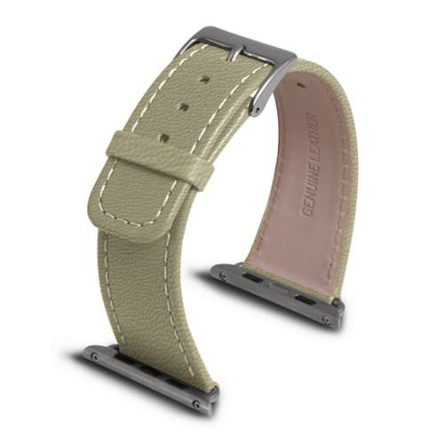 Apple Watch armband 42 mm - Gebrochen Weiß - Ziegenleder