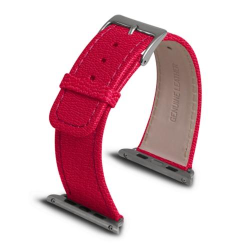 Apple Watch armband 42 mm - Fuchsia  - Ziegenleder