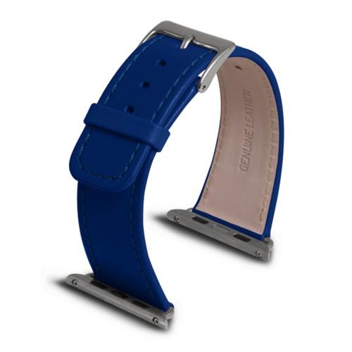Apple Watch armband 42 mm - Azurblau  - Glattleder