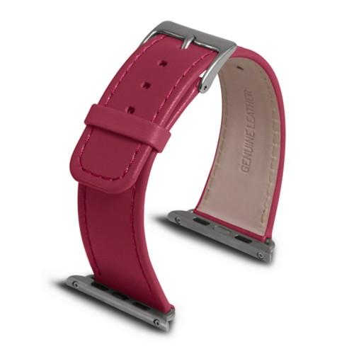 Apple Watch armband 42 mm - Fuchsia  - Glattleder
