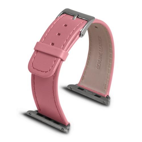 Apple Watch armband 42 mm - Rosa - Glattleder