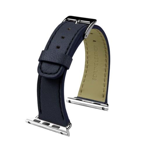 Apple Watch-Armband 38 mm - Klassisch - Königsblau  - Ziegenleder