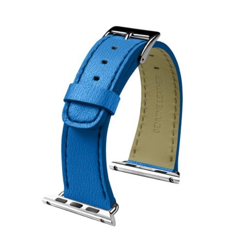 Apple Watch-Armband 38 mm - Klassisch - Azurblau  - Ziegenleder