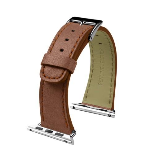 Apple Watch-Armband 38 mm - Klassisch - Cognac - Ziegenleder
