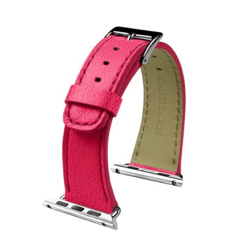 Apple Watch-Armband 38 mm - Klassisch - Fuchsia  - Ziegenleder