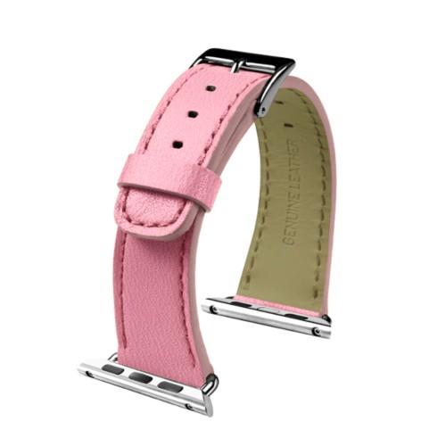 Apple Watch-Armband 38 mm - Klassisch - Rosa - Ziegenleder