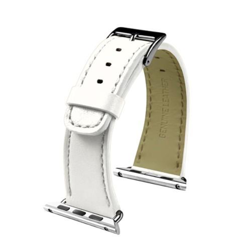 Apple Watch-Armband 38 mm - Klassisch - Weiß - Glattleder