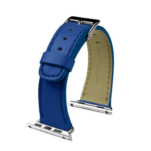 Apple Watch-Armband 38 mm - Klassisch - Azurblau  - Glattleder