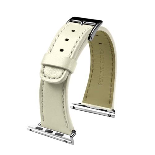 Apple Watch-Armband 38 mm - Klassisch - Gebrochen Weiß - Glattleder