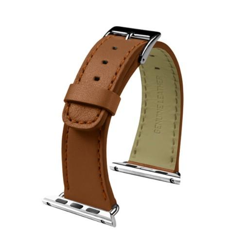 Apple Watch-Armband 38 mm - Klassisch - Cognac - Glattleder