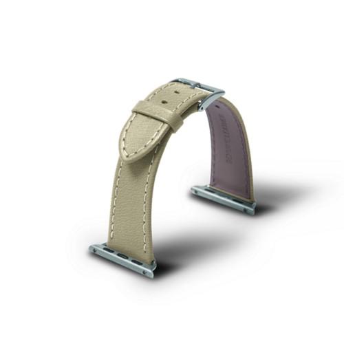 Apple 38 mm Uhrarmband - 38mm - Gebrochen Weiß - Ziegenleder