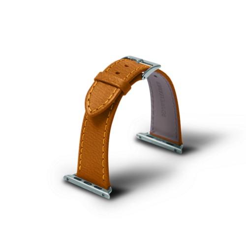 Correa para Apple Watch de 38 mm - azafrán amarillo - Piel de Cabra