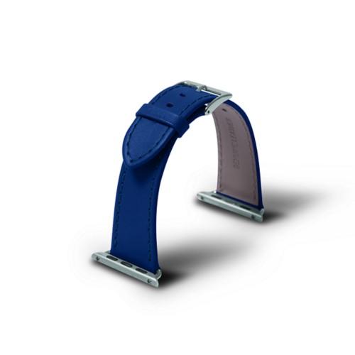 Apple 38 mm Uhrarmband - 38mm - Azurblau  - Glattleder