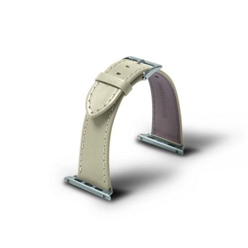 Apple 38 mm Uhrarmband - 38mm - Gebrochen Weiß - Glattleder