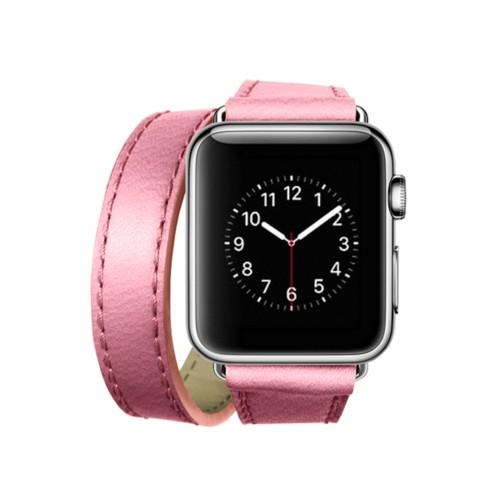 Doppel-Armband für Apple Watch 38mm - Rosa - Ziegenleder