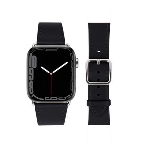 Bracelet élégance Apple Watch Series 5 - (40 mm) - Noir - Cuir Lisse