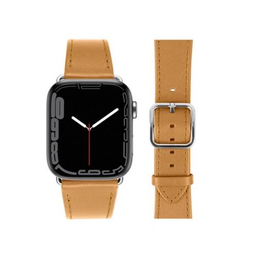 Bracelet élégance Apple Watch Series 5 - (40 mm) - Naturel - Cuir Lisse