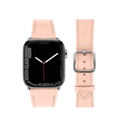 Bracelet élégance Apple Watch Series 5 - (40 mm) - Nude - Cuir Lisse