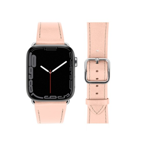 Bracelet élégance Apple Watch Series 5 - (40 mm) - Nude - Cuir Lisse