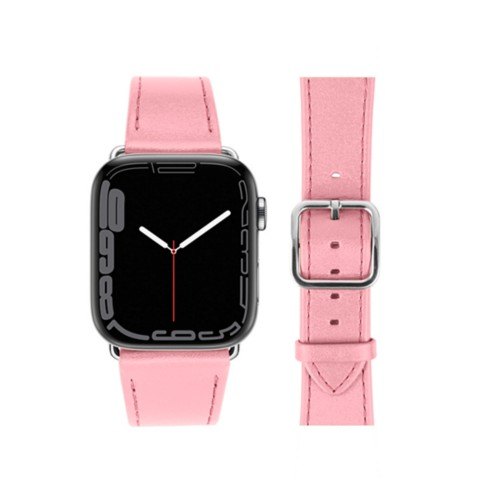 Bracelet élégance Apple Watch Series 5 - (40 mm) - Rose - Cuir Lisse