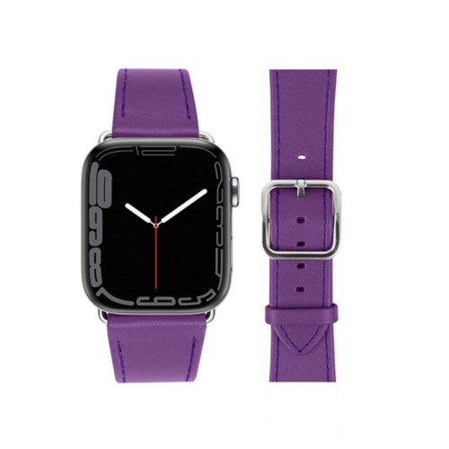 Bracelet élégance Apple Watch Series 5 - (40 mm) - Lavande - Cuir Lisse