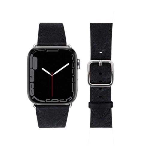 Bracelet élégance Apple Watch Series 5 - (40 mm) - Noir - Cuir végétal