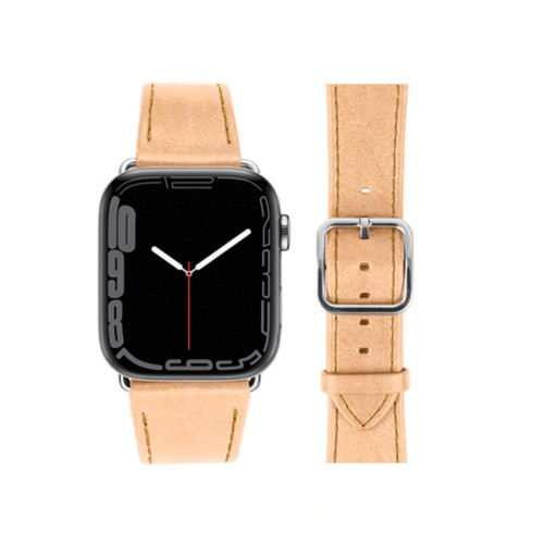 Bracelet élégance Apple Watch Series 5 - (40 mm) - Naturel - Cuir végétal