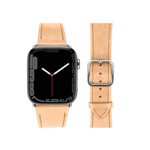 Bracelet élégance Apple Watch Series 5 - (40 mm) - Naturel - Cuir végétal