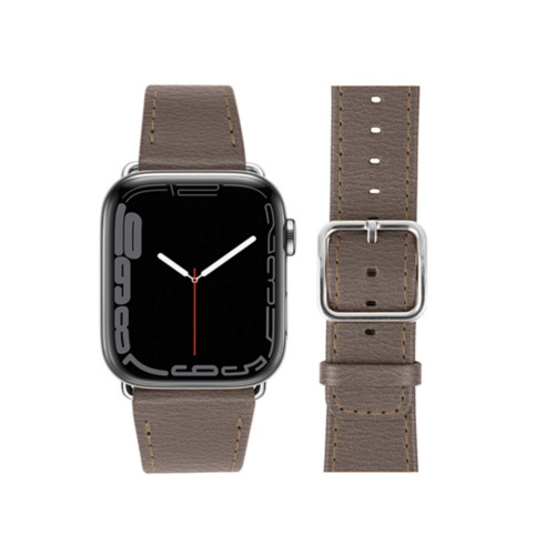 Apple Watch Series 4 Watch Band - (44 mm) - Dark Taupe - Goat Leather