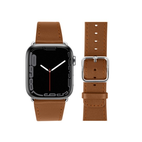 Bracelet Apple Watch Series 5 Classic - (44 mm) - Cognac - Cuir Lisse