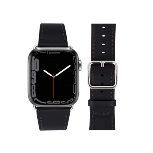Apple Watch Series 4 Watch Band - (44 mm) - Black - Smooth Leather