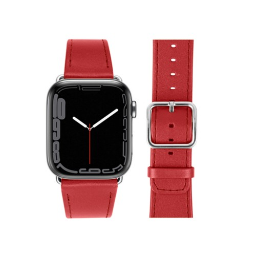 Apple Watch Series 4 Watch Band - (44 mm) - Red - Smooth Leather