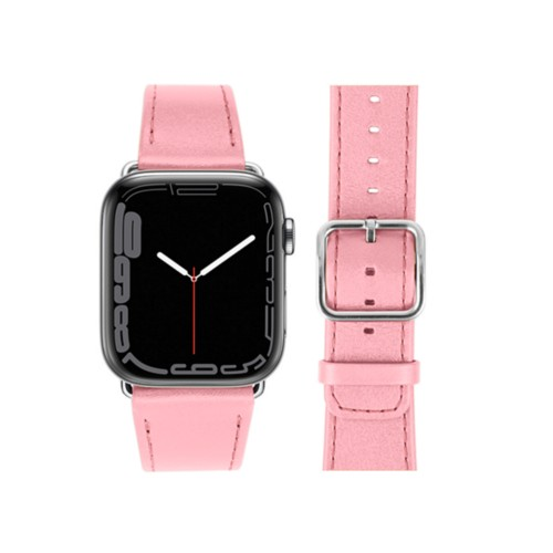 Apple Watch Series 4 Watch Band - (44 mm) - Pink - Smooth Leather