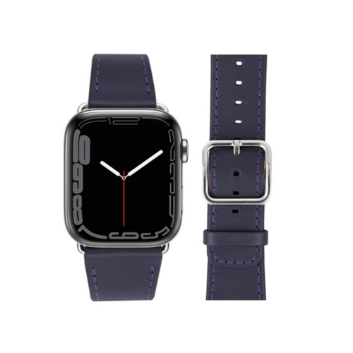 Apple Watch Series 4 Watch Band - (44 mm) - Purple - Smooth Leather