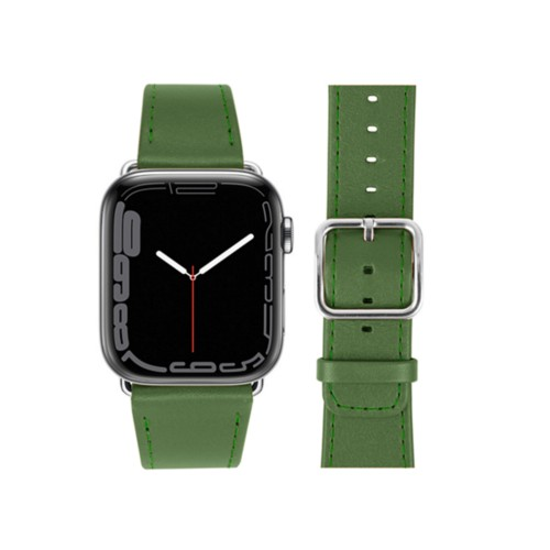 Apple Watch Series 4 Watch Band - (44 mm) - Light Green - Smooth Leather