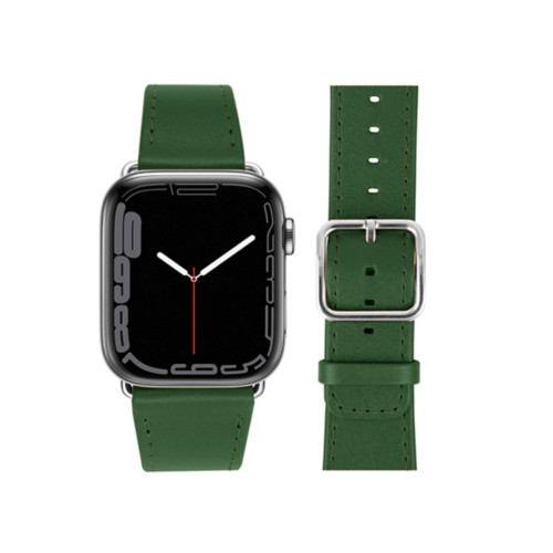 Apple Watch Series 4 Watch Band - (44 mm) - Dark Green - Smooth Leather