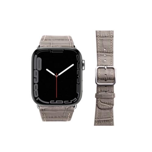 Apple Watch Series 4 Watch Band - (44 mm) - Light Taupe - Crocodile style calfskin