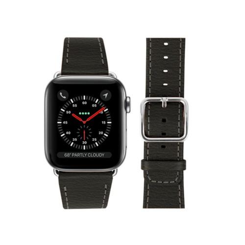 Bracelet Apple Watch 42 mm - Gris Souris - Cuir de Chèvre