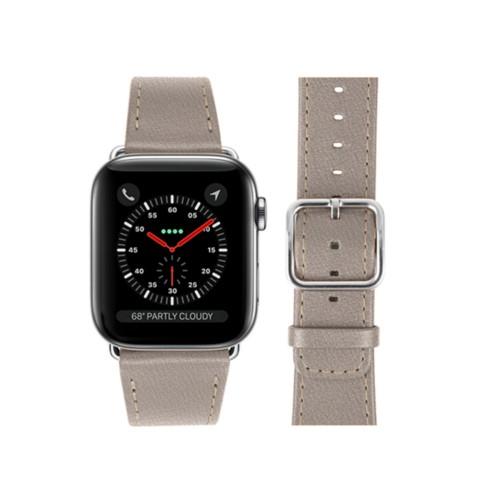 Bracelet Apple Watch 42 mm - Taupe Clair - Cuir de Chèvre