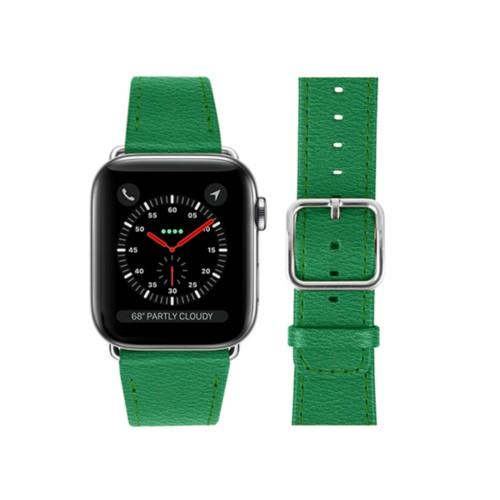 Bracelet Apple Watch 42 mm - Vert - Cuir de Chèvre