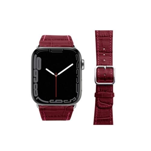 Apple Watch-Armband 42 mm in Krokodiloptik - Fuchsia  - Krokodilartiges
