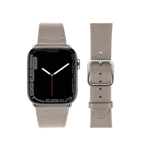 Apple Watch Series 4 Elegance Watch Band - (44 mm) - Light Taupe - Goat Leather