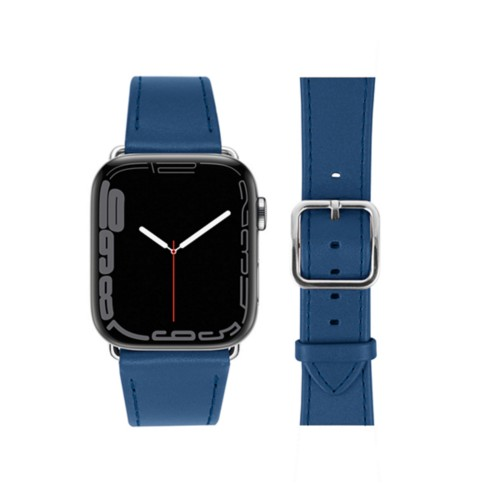 Apple Watch Series 5 Elegance Watch Band - (44 mm) - Royal Blue - Smooth Leather