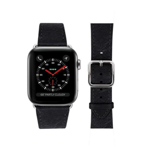 Bracelet Apple Watch - 42 mm – Elégance - Noir - Cuir végétal