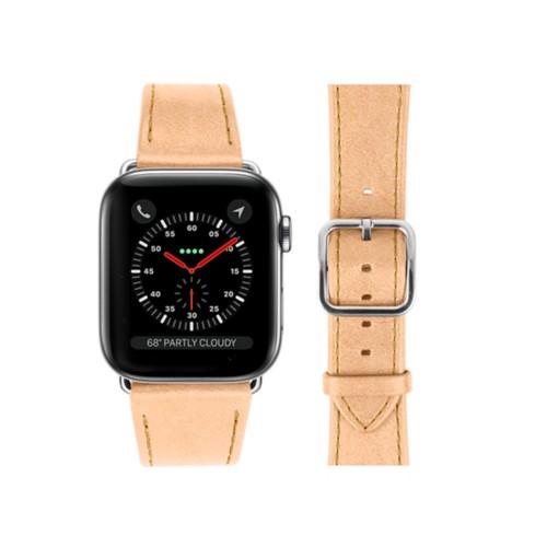 Bracelet Apple Watch - 42 mm – Elégance - Naturel - Cuir végétal