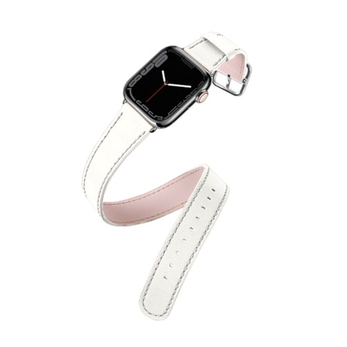 Apple Watch Series 4 Double Tour Watchband - (44 mm) - White - Smooth Leather