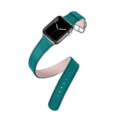 Double Tour Apple Watch Series 5 - (40 mm) - Sea Green - Goat Leather