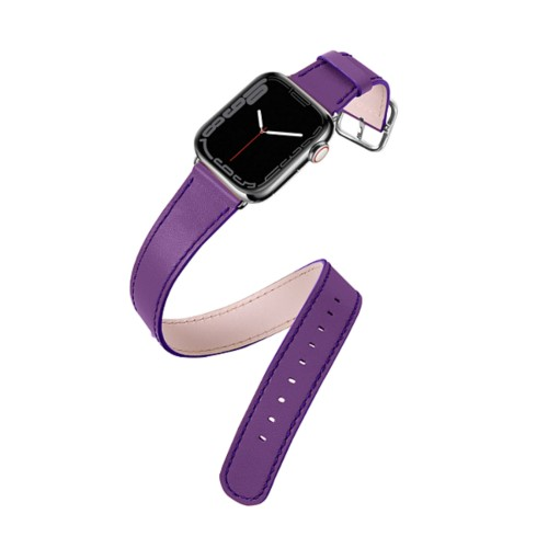 Double Tour Apple Watch Series 5 - (40 mm) - Lavender - Smooth Leather